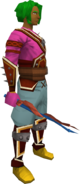 Imp horn wand equipped