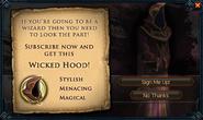 Wicked hood popup