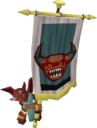 Lesser Demon Champion banner carrier