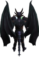 Attuned King Black Dragon wings equipped