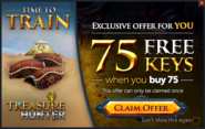 Treasure Hunter buy 75 get 75 promo
