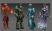 Elemental Outfits Concept Art