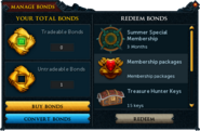 Manage Bonds (Summer Membership Package 2015)