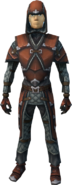 Hard leather armour (male) equipped