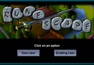 2001 login screen