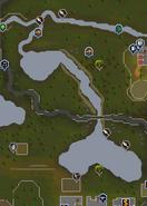 Seers' Village river map