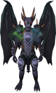 Attuned King Black Dragon outfit equipped
