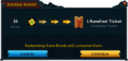 Redeeming a bond for RuneFest 2015 confirmation