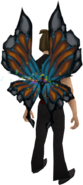 Butterfly wings equipped