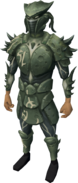 Sirenic armour set (barrows) equipped