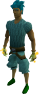 Goliath gloves (yellow) equipped