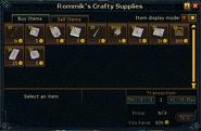 Rommik's Crafty Supplies stock