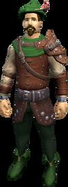 A player wearing the regular robin hood equipment