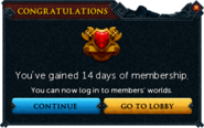 Redeemed a bond for membership