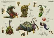 Penance creatures concept art