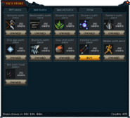 Vic's Store (2017) Skill Outfits Tab