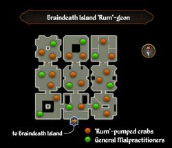 Braindeath Island 'Rum'-geon map.png