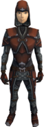 Hard leather armour (female) equipped