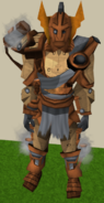 Dwarven Warsuit outfit equipped (female)