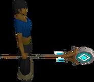 Banner of Seren equipped