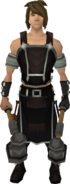 Shadow Linza outfit equipped (male)