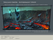 Wildy volcano crater - environment study dec bts