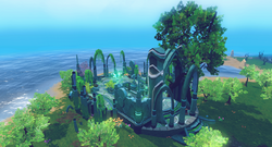Memorial to Guthix shrine.png