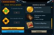 Manage Bonds (Treasure Map Key)