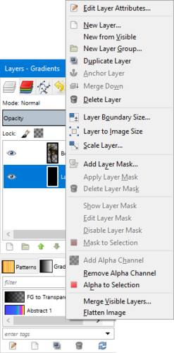 GIMP - layers window right-click.png