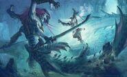 Underwater boss concept art
