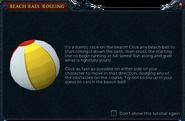 Beach Ball Rolling interface