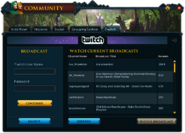 Community (Twitch) interface