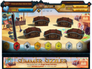 Treasure Hunter Summer Sizzler interface