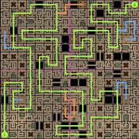 Carte 1 du Labyrinthe de Sliske (solution)