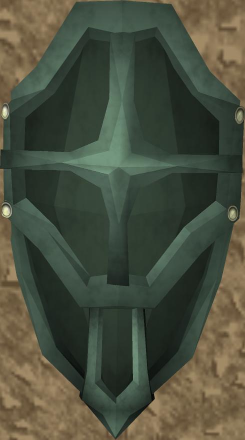 Escudo ogival de adamantio