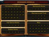 Dungeoneering journals