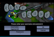 Login Page (Username & Password)