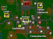 Romeo & Juliet map