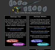 Runescape website 2002