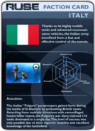 RUSE Card Faction Italy