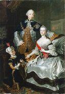 Anna Rosina de Gasc, Le grand-duc Pierre Fiodorovitch, la grande-duchesse Catherine Alexeïevna et un page (1756)