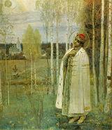 1899. Tzarevich Dmitry by M. Nesterov