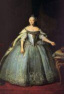 Portrait of Empress Elizaveta Petrovna by Ivan Vishnyakov