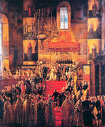 Coronation of Paul I by M.F.Kvadal (1799, Saratov museum)