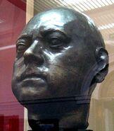 Скульптурная голова, сделанная по посмертной маске