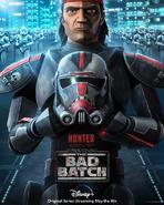 Star Wars The Bad Batch Hunter poster