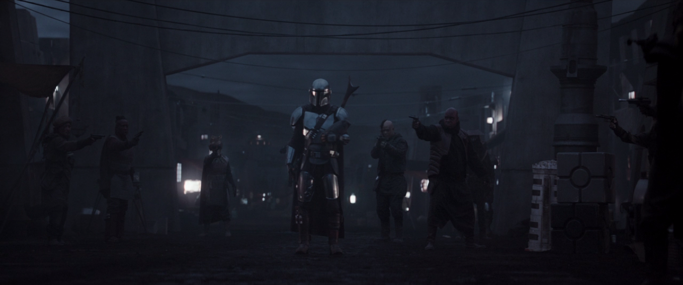 Bounty Hunters Surround The Mandalorian.png