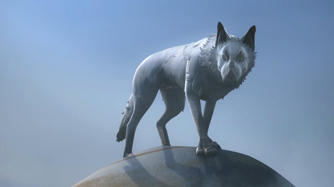 Белый лот-волк