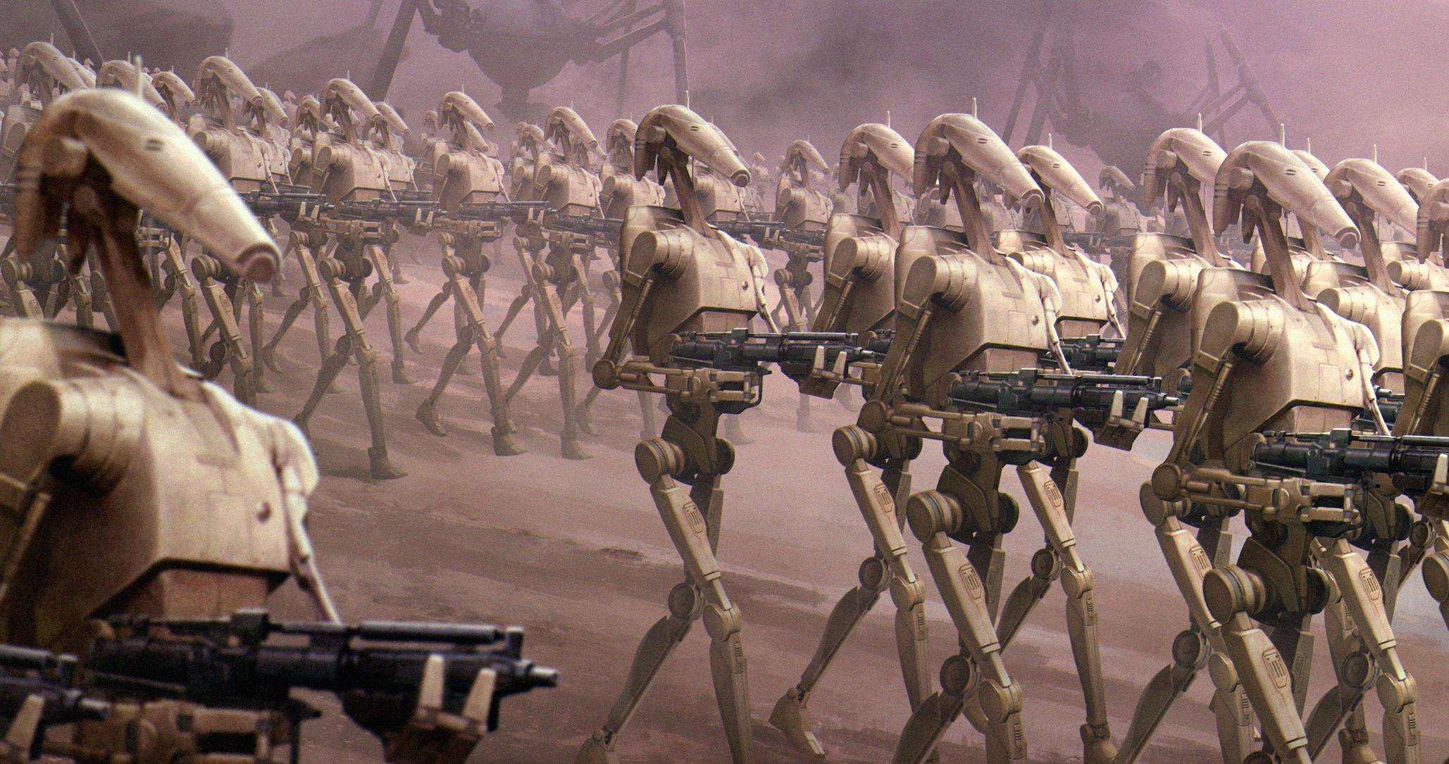 Боевой дроид серии B/Канон
