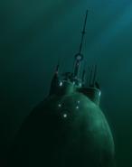 Mon Calamari central planetary scanner mast
